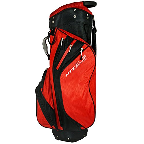 Hot-Z 2017 Golf 3.5 Cart Bag, Red/Black
