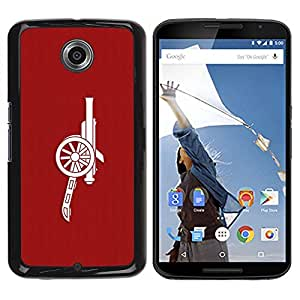 Be Good Phone Accessory // Dura Cáscara cubierta Protectora Caso Carcasa Funda de Protección para Motorola NEXUS 6 / X / Moto X Pro // Red Cannon