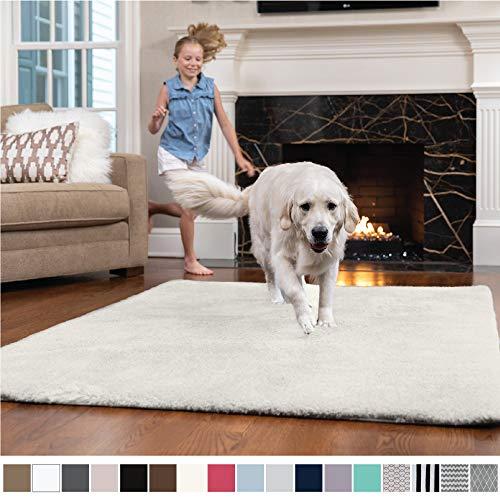 (GORILLA GRIP Original Faux-Chinchilla Nursery Area Rug, (2' x 3') Super Soft & Cozy High Pile Machine Washable Carpet, Modern Rugs for Floor, Luxury Shag Carpets for Home Bed/Living Room (Cream))