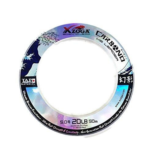 Xzoga 1 x Carbono HS釣り引出線ライン20lb / 50 m 25 kg B01CS99HEK