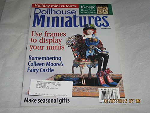 Dollhouse Miniatures magazine December 2001 for sale  Delivered anywhere in USA