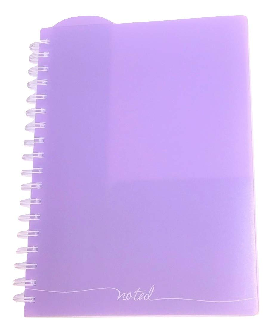 Studio C Carolina Pad College Ruled Executive Notebook, Noted (Violet, 8 Inches x 9.75 Inches, 100 Sheets, 200 Pages)