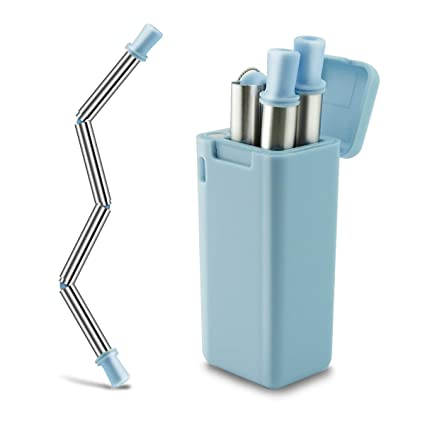 Amazon com: Collapsible Straws LIKEGOR Premium Food Grade