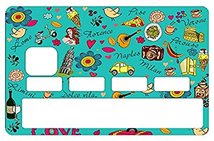 f7ae5861105 Amazon.com: DECO-IDEES Credit Card Sticker, Italia, la Dolce vita in ...