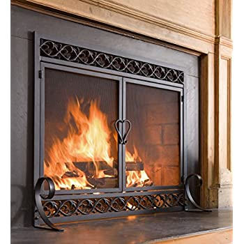 Amazon Com Plow Amp Hearth Scrollwork Large Fireplace