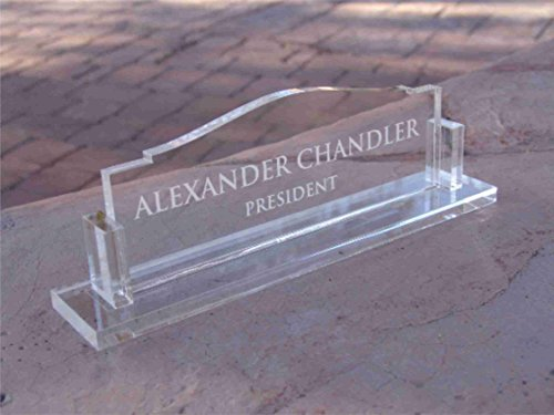Personalized Office Desk name plate glass like acrylic custom (8