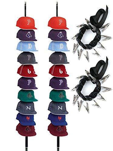 izer - Baseball Cap Holders Rack - Hangers Clothing Racks (2 Pack) ()
