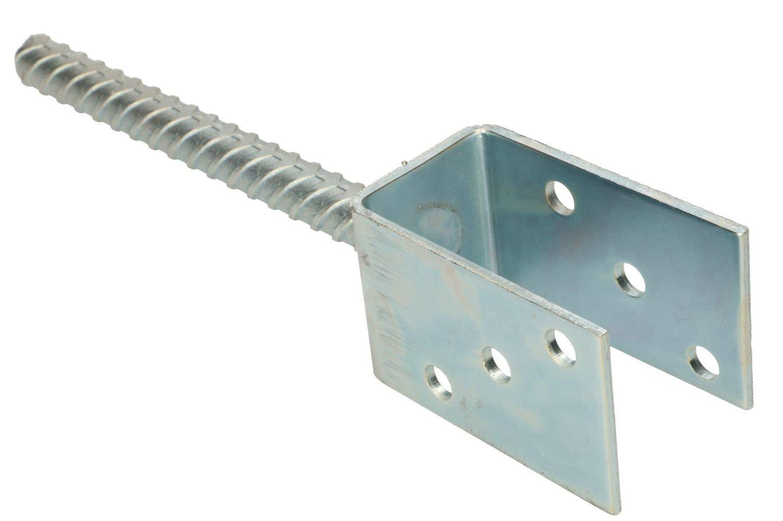 KOTARBAU U Support de poteau en acier galvanis/é /à chaud Toutes les tailles de lumi/ère Largeur 51 mm 161 mm