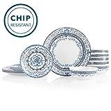 Corelle 6-Piece Chip Resistant Dinnerware Set, 18, Portofino