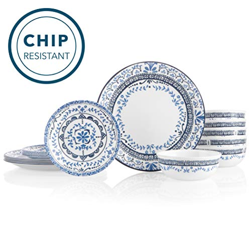 Corelle 6-Piece Chip Resistant Dinnerware Set, 18, Portofino (Dining Dish Sets)