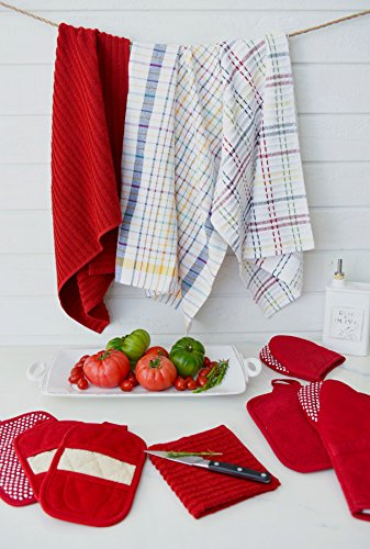 Ritz Royale Collection 100% Combed Terry Cotton, Highly Absorbent, Oversized, Kitchen Towel Set, 28'' x 18'', 2-Pack, Solid Paprika Red by Ritz (Image #9)