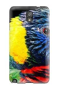 Premium Rainbow Lorikeet Bird Cover Skin For Galaxy Note 3