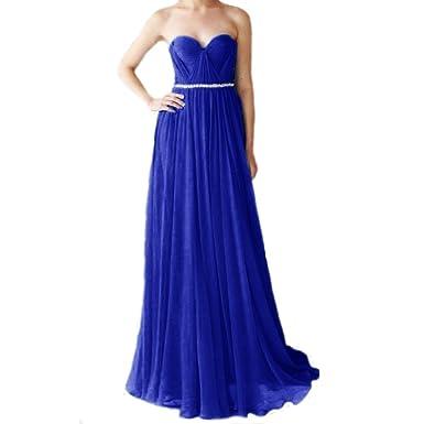 LuckyShe Damen Lang Elegant Silk Chiffon Festkleider Abendkleider ...