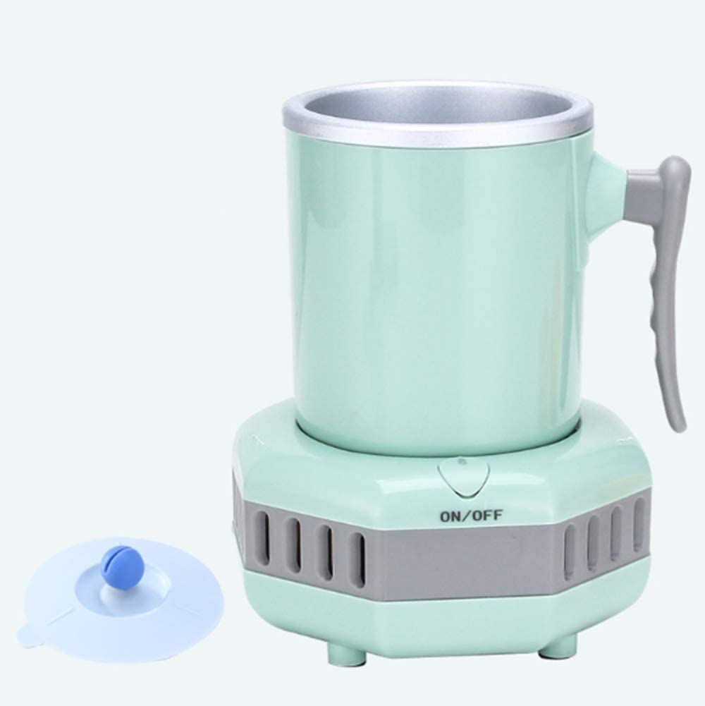 WENKOEBY Mini Ice Maker Machine blue Portable Instant Cooling Cup Quick Ice Making in 15 Minutes Home Office Car Cold Drink Machine Small Appliance Kettle Cooling Cup Electric Quick