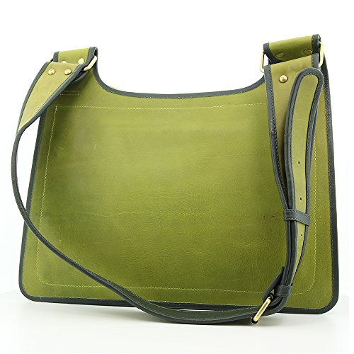 Borsa a tracolla in pelle - Chris verde per uomini e donne - Custodia in pelle disponibile in colore verde