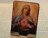 Mary Portable Altar Sacred Heart Meditation Altar Prayer Devotion Desk Accessory