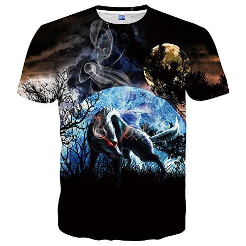 Hgvoetty Unisex Animal Shirts for Men Women 3D Funny T Shirt XL ()