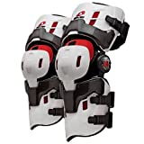 EVS RS8 Pro Hybrid Adult Knee Brace Off-Road Motorcycle Body Armor - White / Large - Pair