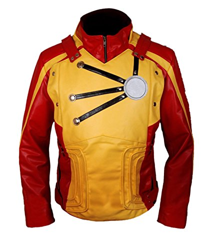 Firestorm Halloween Costume (Firestorm Legends of Tomorrow Franz Drameh Jacket with removable shield- Perfect Halloween Costume- XL)