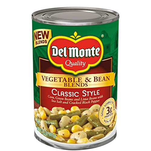 Del Monte Vegetable & Bean Blends, Classic Style, 14.5-Ounce Can, 12 Count