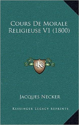 Book Cours de Morale Religieuse V1 (1800)