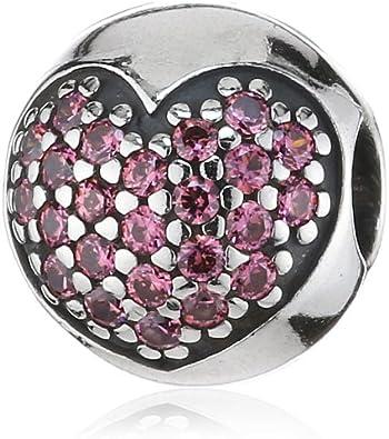 Pandora 791053CZS - Abalorio de plata de ley con circonita