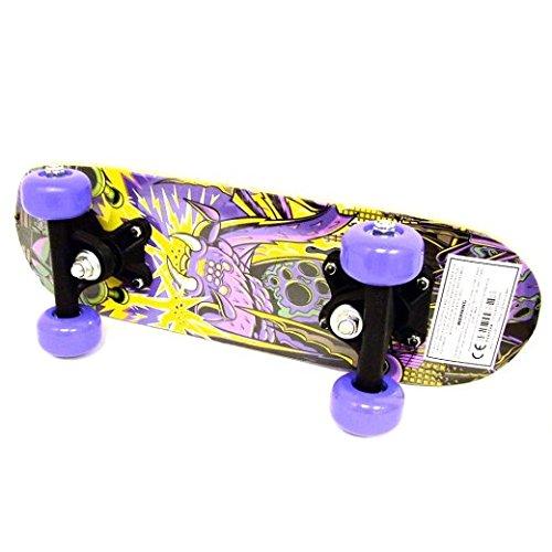 Kids Childrens Beginner Assorted Design Mini Skateboard Brand New