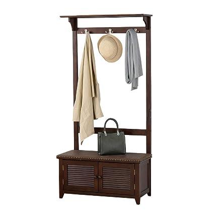 Amazon.com: Barture Solid Wood Coat Rack Bedroom Hangers ...