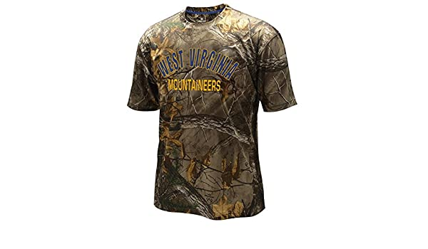 80b9c4be8 Amazon.com : WVU Realtree SS Tee in Camo by Colosseum (Medium) : Sports &  Outdoors