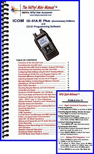 Manual Radio Icom (Icom ID-51A/E Anniversary Edition Mini-Manual & Card Combo by Nifty Accessories)