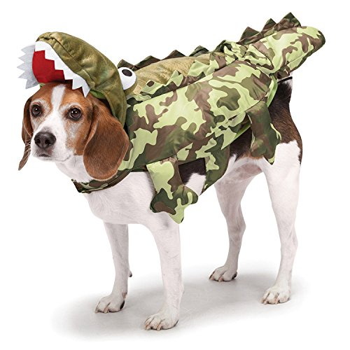 (Zack & Zoey Camo Alligator Costume for Dogs,)