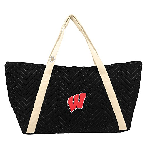 Littlearth NCAA Wisconsin Badgers Chev-Stitch Weekender (Gym Bag Wisconsin Badgers)