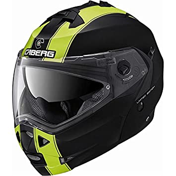 Caberg Duke Legend Casco de motocicleta plegable en la parte frontal, de color negro mate