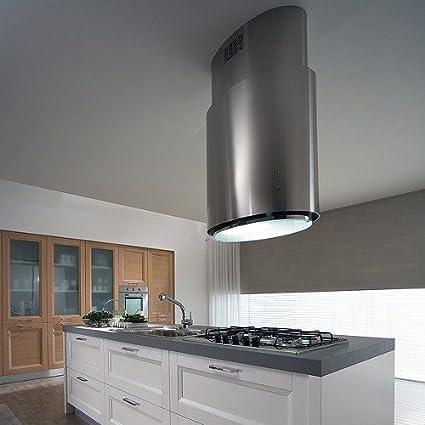 Falmec – Campana de isla elíptica de acero inoxidable de 70 cm y potencia 800 M3/H: Amazon.es: Hogar