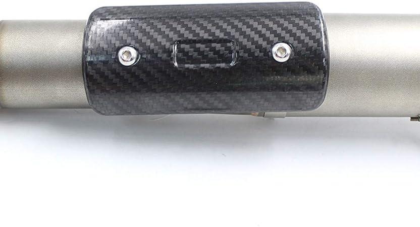 Mgod Motorrad Auspuff Hitzeschild Aus Kohlefaser Schalldämpfer Schutzkappe Schöne Korrosionsbeständigkeit Dauerhafte Wärmeisolierung Hs 02 Auto