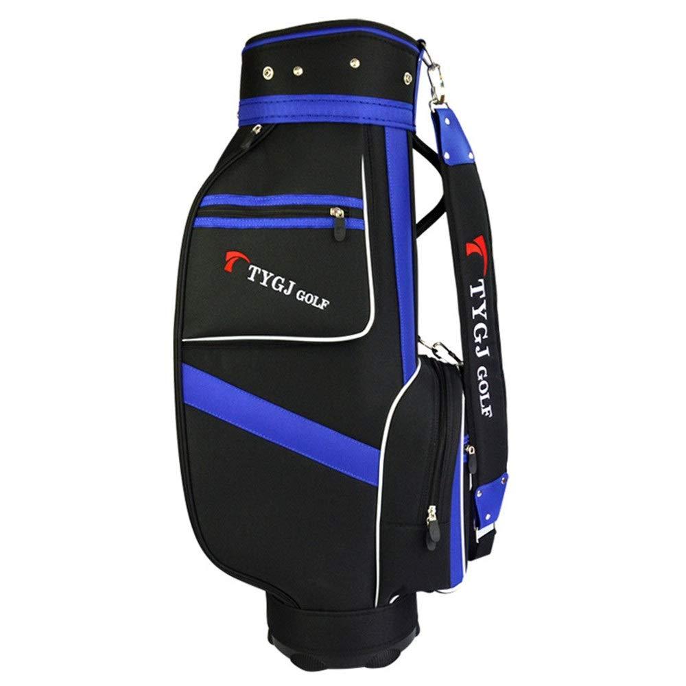 ゴルフクラブバッグ ゴルフスタンドバッグ防水ゴルフナイロンゴルフバッグスタンダードバッグキャリーバッグ黒と青のボールバッグ付き5プランジャ穴 超軽量、大容量、コンパクトな収納 (色 : One color, サイズ : 85×38×22.5cm) 85×38×22.5cm One color B07SPW2TLZ
