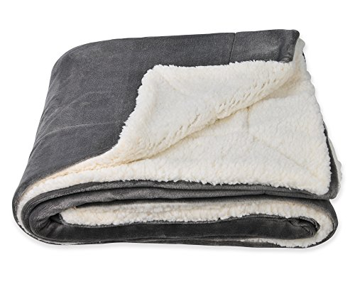 - SOCHOW Sherpa Fleece Throw Blanket, Double-Sided Super Soft Luxurious Plush Blanket Throw Size, Grey