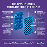 Furbliss-Dog-Cat-Brush-for-Small-Pets-with-Short-Hair-Non-Metal-Grooming-Bathing-Massaging-and-Deshedding-Silicone-Brush-Blue