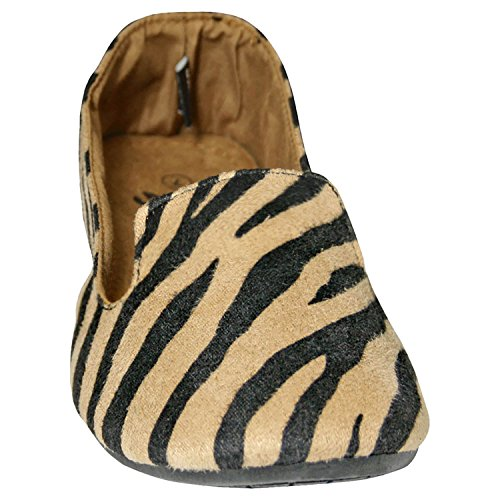 DAWGS Womens Kaymann Smoking Exotic Tuxedo Loafer Black/Tan Safari JqBDZR8S
