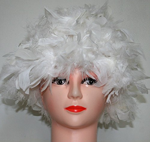White Chandelle Feather Costume Wig Halloween Costume Coque Feather Wigs (Atlanta, (Halloween Costume Parties Atlanta)