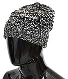 Dolce & Gabbana Hat Beanie Wool Black White Winter Warm Mens