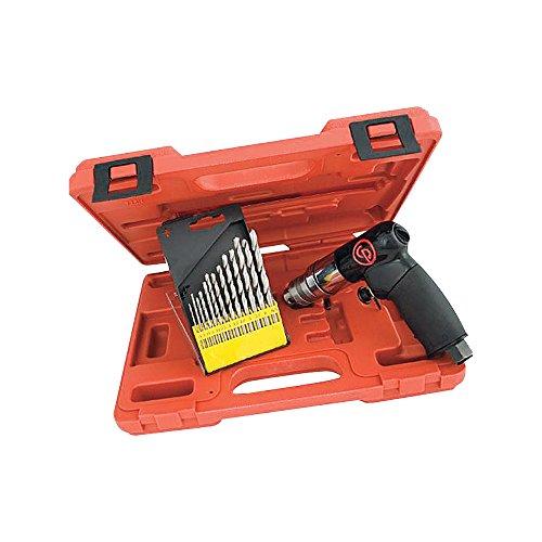 Chicago Pneumatic Mini Air Drill Kit - 1/4in. Chuck, 2700 RPM, 4.1 CFM, Model# CP7300RK
