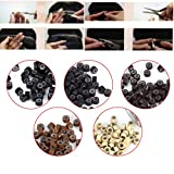 5 Bottle/Set 2500PCS Silicone Micro Link Rings 5mm