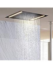 LightInTheBox Contemporary Rain Shower Head LED Rectangular Shower Head Stainless steel Overhead Rainfall Massage LED Top Sprayer