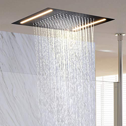 LightInTheBox Contemporary Rain Shower Head New Design LED Rectangular Stainless steel Overhead Rainfall Massage LED Colors Top Sprayer