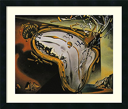 (Framed Art Print, 'Melting Watch' by Salvador Dali: Outer Size 26 x 22