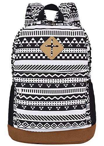 Coofit Backpacks for Women Retro Canvas Rucksack Casual Lightweight Shoulder Bag