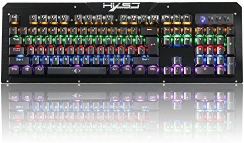 Danankan メカニカルゲーム用キーボード防水ブルースイッチ104ダブルインジェクションキー (Color : ブラック)