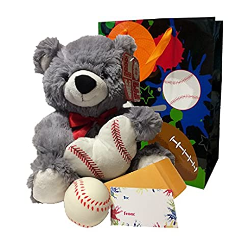 Valentines Day Gifts For Boys Gift Sports Bag Set Plush Athletic Teddy Bear Soft