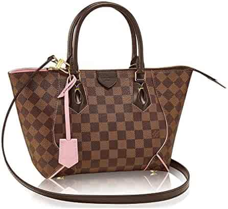 Authentic Louis Vuitton Damier Caissa Tote PM Handbag Article N41554 Rose  Ballerine Made in France 165f48efe4036